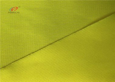 China Yellow 120GSM Durable Reflective Fluorescent Material Fabric For Vest Safe Clothing distributor