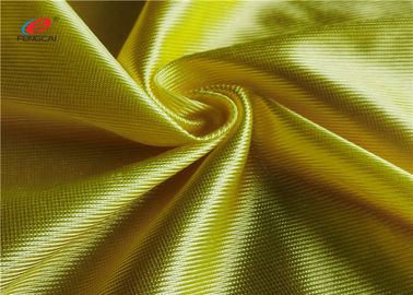 China Breathable Yellow Polyester Warp Knit Fabric Shiny Dazzle Basketball Clothing Using factory
