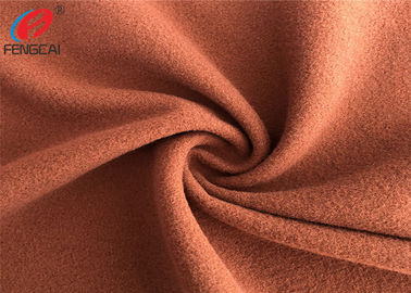 China Brown Colour Plain Dyed Polyester Tricot Knit Fabric Super Poly School Uniform Fabric factory