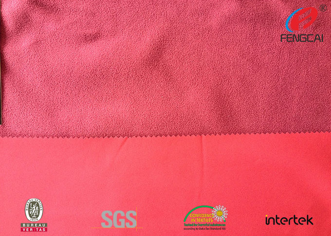 TPU Laminated Polyester Fabric Bonded With Polar Fleece Fabric With 3 Layer