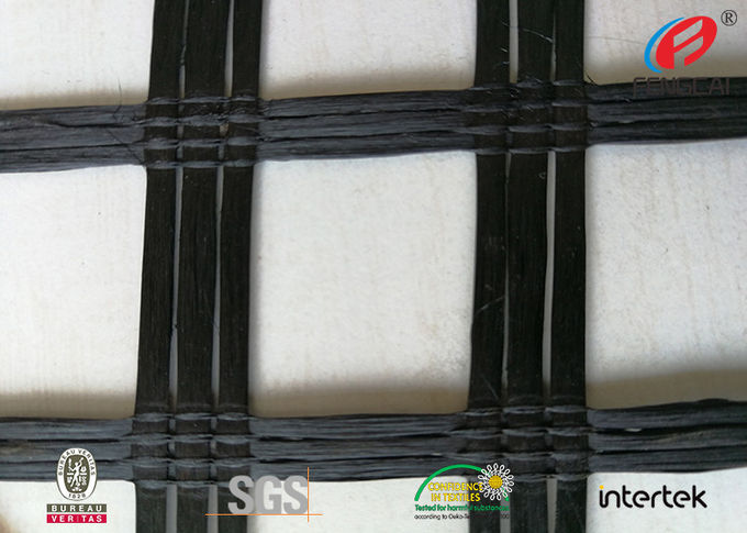 Polyester  Geogrid Reinforcing Fabric Retaining Wall Material Bitumen Coating