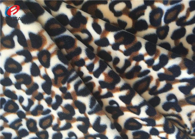 Stretching Polyester Spandex Velvet  Fabric , Printed Warp Knitting Fabric