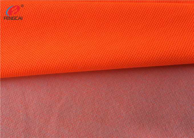 Flame Retardant Fluorescent Material Fabric Weft Knitted Polyester Fabric For Uniform