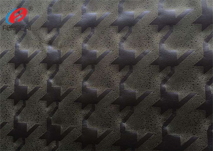 Knitted Faux Micro Suede Polyester Fabric Embossed Home Textile Material For Upholstery