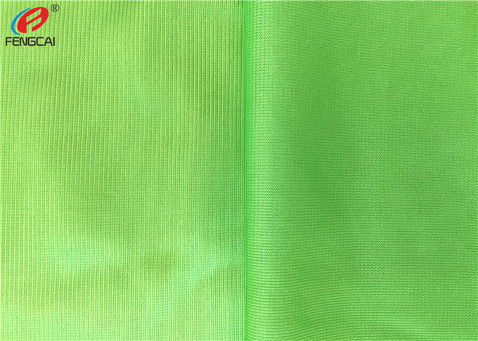 Warp Knitted Polyester Tricot Brushed Fabric , Shiny Dazzle Fabric For Jerseys
