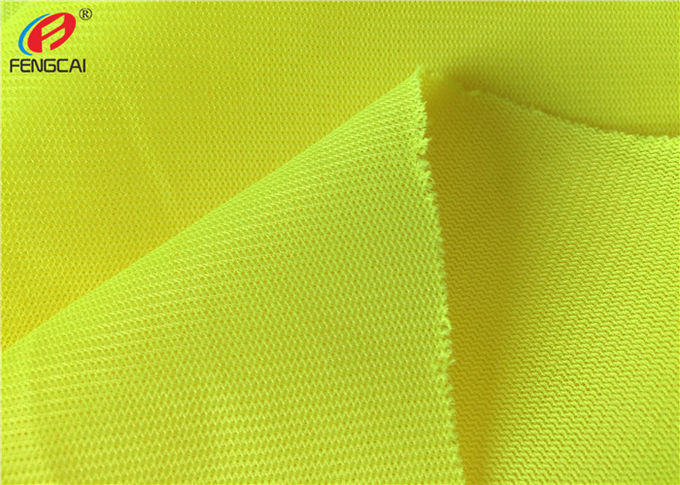 Yellow Polyester Fluorescent Material Fabric