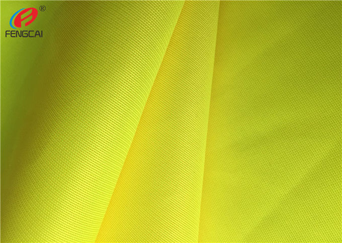 Bright Yellow Fluorescent Material Fabric 100 % Polyester Police Uniform Fabric