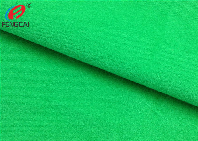 100% Polyester Tricot Knit Fabric Non-Stretch Soft Velour Loop Fabric For Shoes / Garment