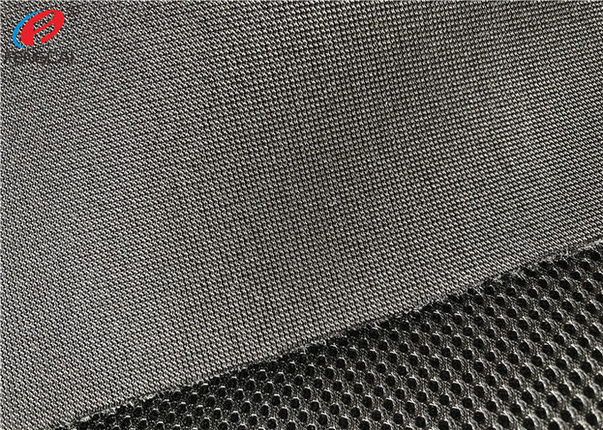Polyester Sandwich Sports Mesh Fabric , Knitted 3D Air Mesh Fabric For Shoes