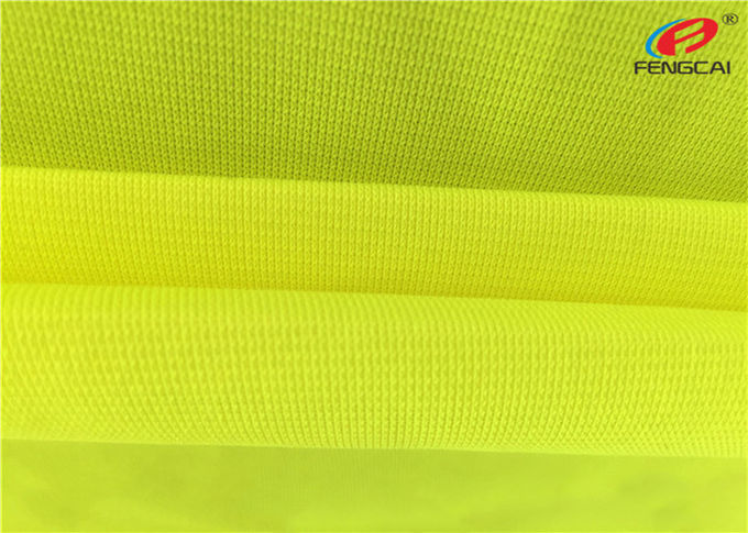 Tricot Warp Knitting Flag Fluorescent Material Fabric For Safety Vests