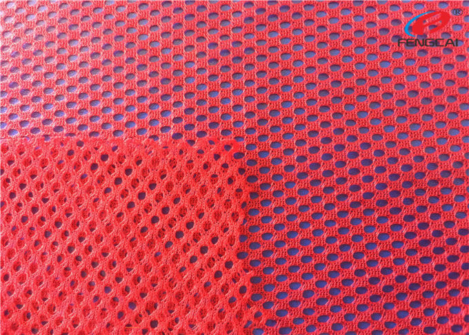 Customized Knit Big Hole Sports Mesh Polyester Fabric For Women Clothing