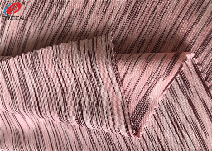 4 Way Stretch Weft Knitted Melange Fabric Yard Dyed Single Jersey Fabric For T - Shirt