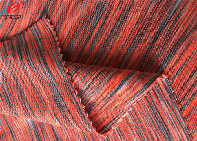 melange Weft Knitted Fabric Polyester Spandex Yarn Dyed Fabric For Sportswear