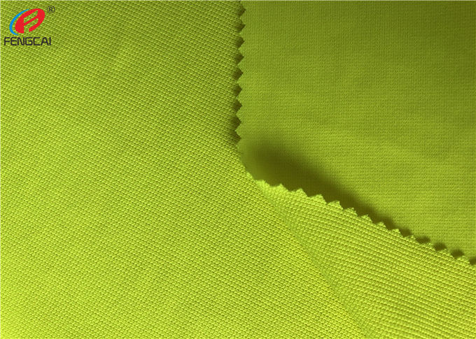 100% Polyester Fluorescent Material Fabric Weft Knitting Dry Fit Golf Polo Shirt Fabric
