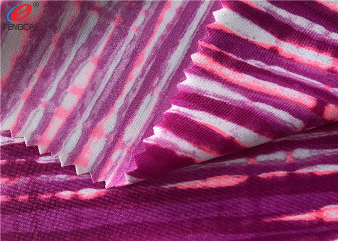 full dull strip printed strong stretch swimwear nylon